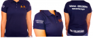 Loja Morhan - Camiseta Polo Baby Look Azul Marinho