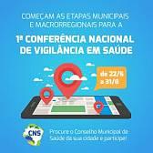 Participe das etapas municipais e macrorregionais para a 1ª Conferência Nacional de Vigilância em Saúde