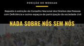 Posição do Morhan sobre a extinção de conselhos de participação social: Nada sobre nós sem nós!