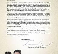 Carta do candidato Fernando Haddad ao Morhan