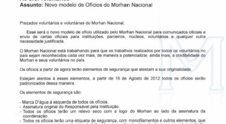 Conheça os elementos do novo modelo de ofício do Morhan Nacional