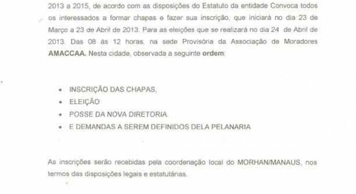 Edital de Convocação - Manaus-AM