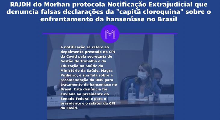 """""""Capitã cloroquina"""" mentiu em CPI sobre tratamento para hanseníase, aponta movimento de pessoas afetadas pela doença"""