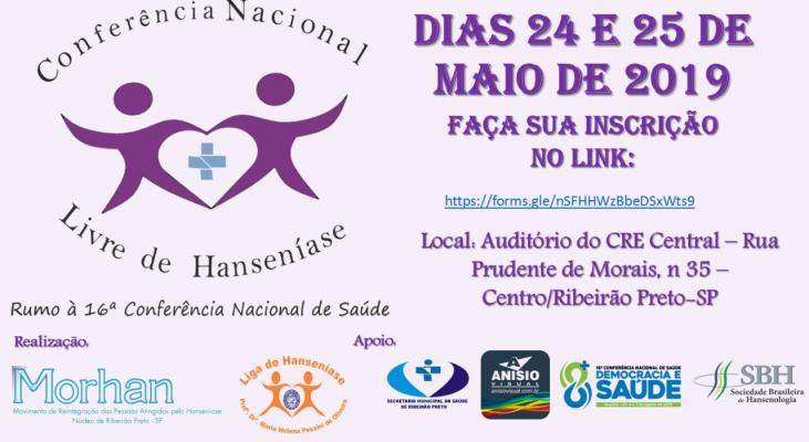 Ribeirão Preto sedia a Conferência Nacional Livre de Hanseníase, inscreva-se!
