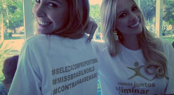 Sancler Frantz promove a erradicação da Hanseníase no palco do concurso Miss Mundo
