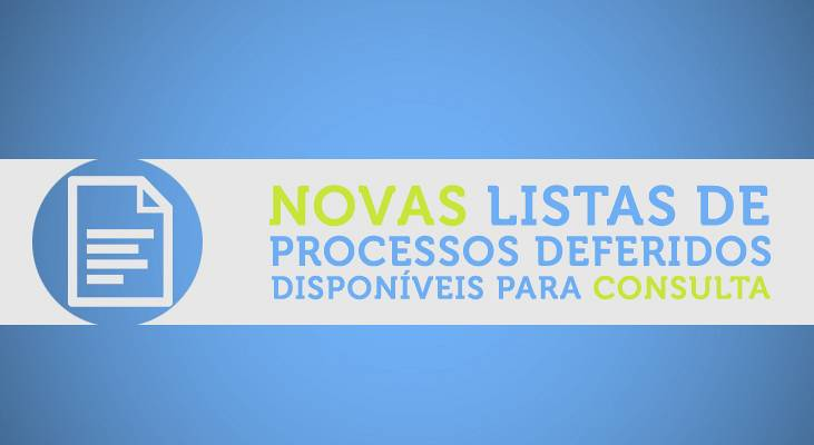 Novas Listas de Processos Deferidos