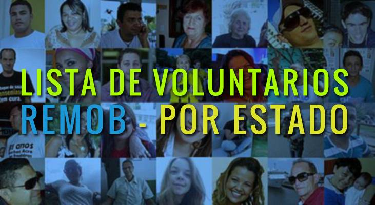 Lista Nacional de Voluntarios do MORHAN por Estados