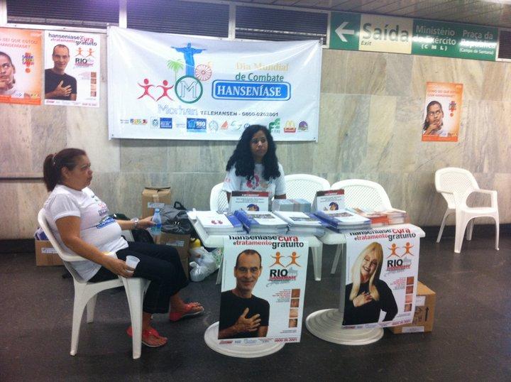 CAMPANHAS NO METRÔ ESTAÇÃO CENTRAL DO BRASIL - RJ