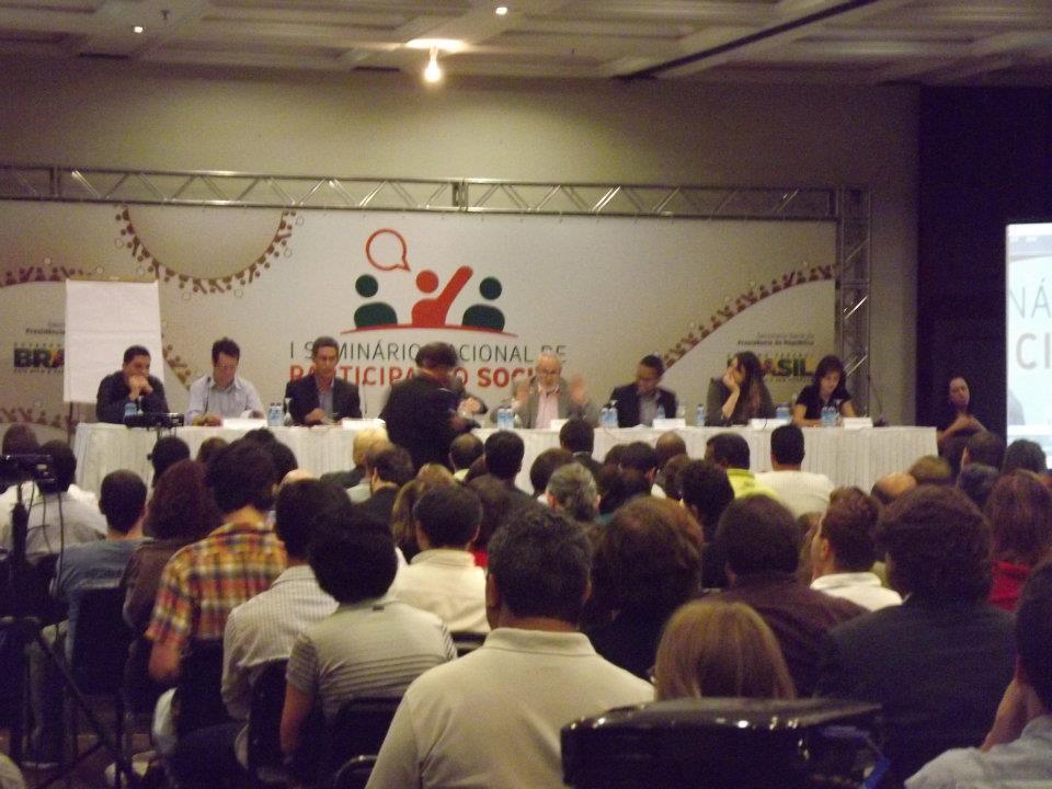 SEMINÁRIO NACIONAL DE PARTICIPAÇÃO SOCIAL (PRESENÇA DO PRESIDENTE DA REPÚBLICA)