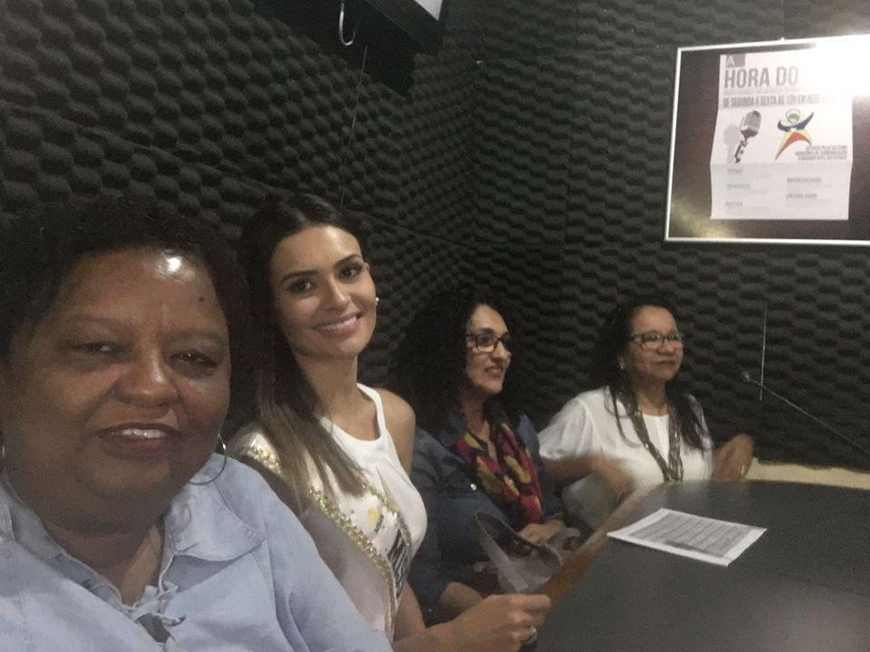 Coordenadora nacional do Morhan, representantes da SESRO e do MS, e a Miss Brasil Mundo 2017, Beatrice Fontoura, estiveram na TV Record e na Rádio Rondônia (Rondônia 07/2017