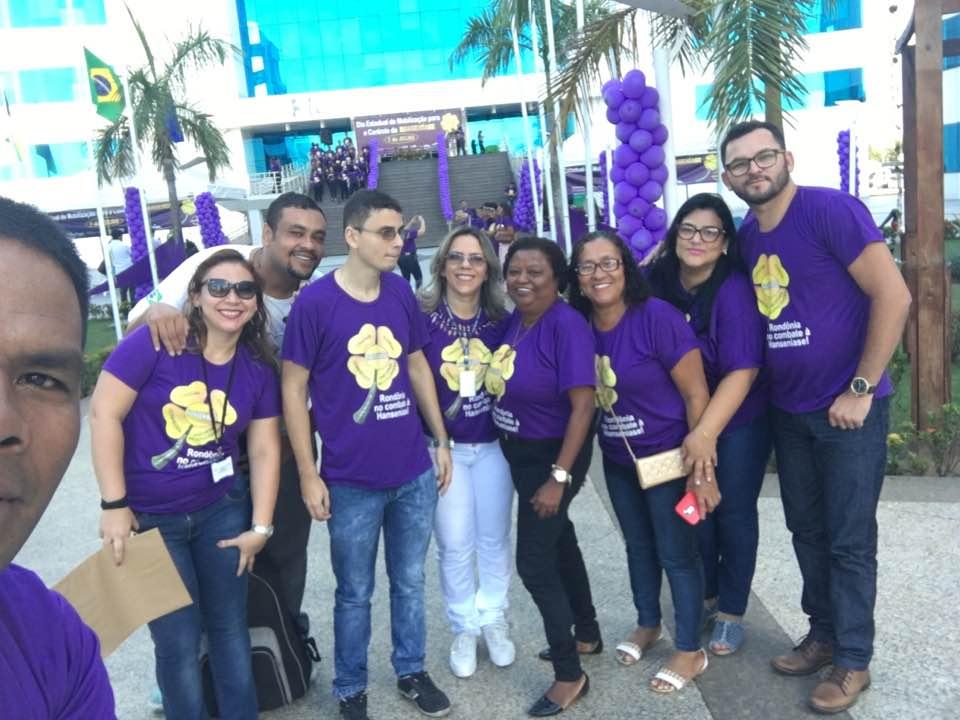 Morhan presente no Dia Estadual de Mobilização para o Controle da Hanseníase (Rondônia 07/07?2017 e 08/07/2017)