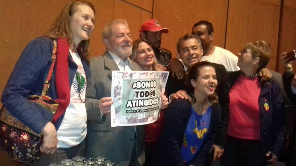 Militância do Morhan encontrou o ex-presidente Lula durante o lançamento do Memorial da Democracia (Belo Horizonte, Minas Gerais, 10/07/2017)