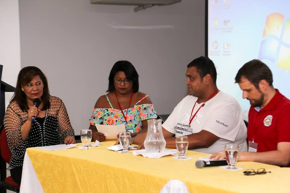 Coordenação Nacional Morhan participando do VIII Encontro Nacional de Associações de Pessoas Afetadas pela Hanseníase( Cartagena, Colômbia 09/2017)